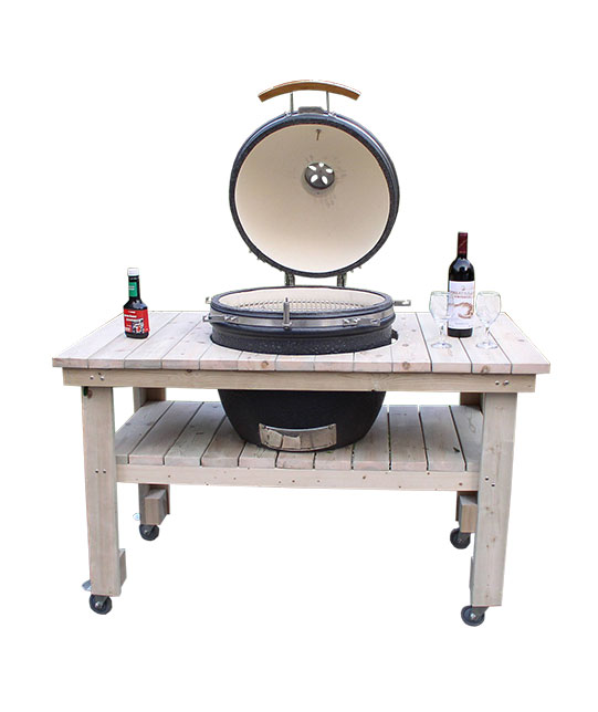 KAMADO WITH WOOD TABLE